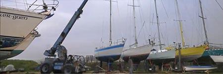 Démâtage de bateau